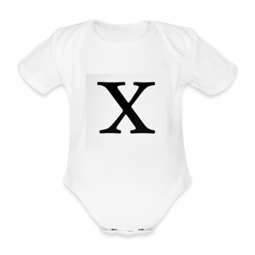 THE X - Organic Short-sleeved Baby Bodysuit