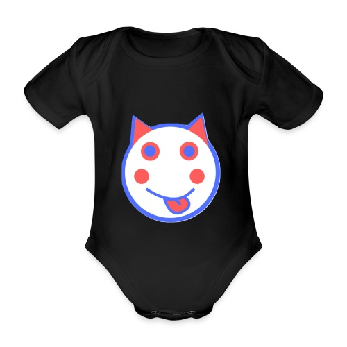 Alf Cat RWB | Alf Da Cat - Organic Short-sleeved Baby Bodysuit