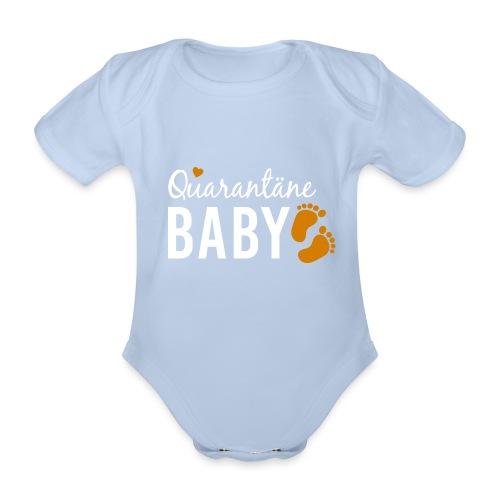 Quarantäne Baby Babybauch Schwangerschaft Corona - Baby Bio-Kurzarm-Body