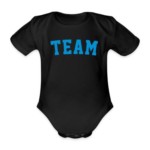 TEAM Dein Text - Baby Bio-Kurzarm-Body
