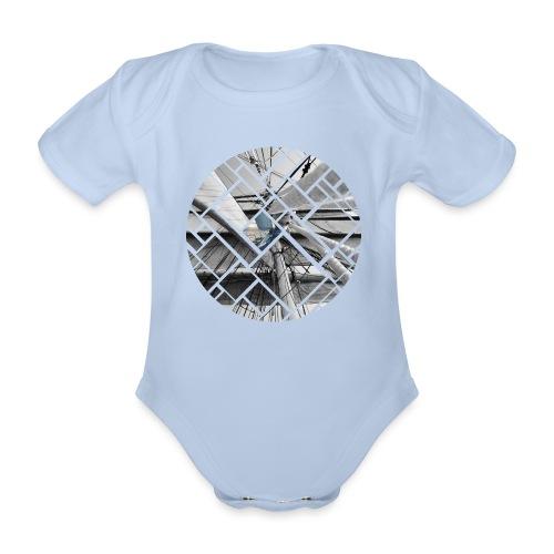 Segelschiff Grafisches Design - Baby Bio-Kurzarm-Body