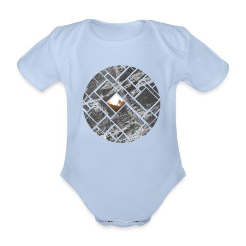 Felsklettern Bouldern Grafisches Design - Baby Bio-Kurzarm-Body