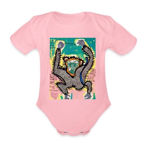 the monkey - Body ecologico per neonato a manica corta