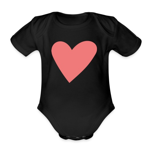 Popup Weddings Heart - Organic Short-sleeved Baby Bodysuit