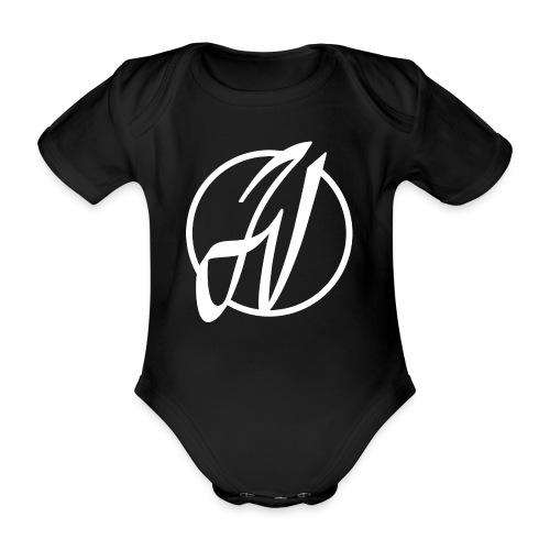JV Guitars - logo blanc - Body bébé bio manches courtes