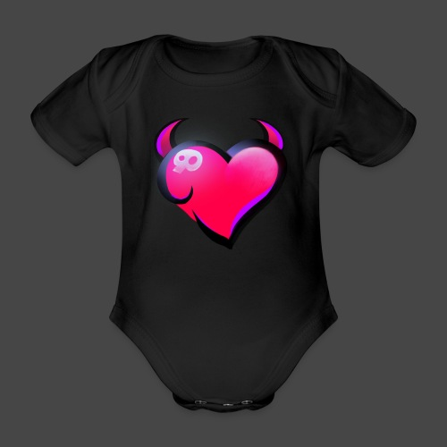Icon only - Organic Short-sleeved Baby Bodysuit