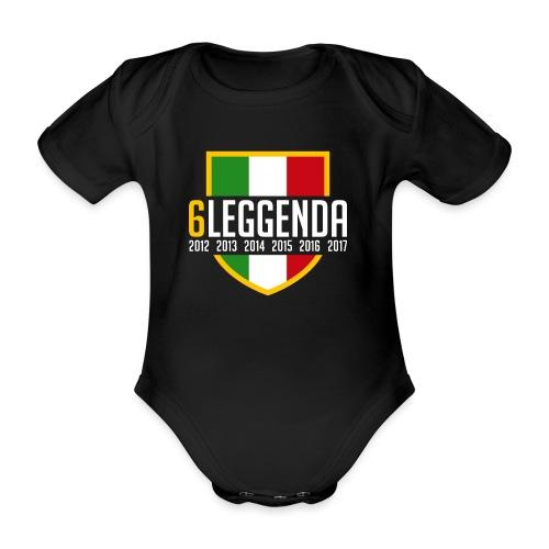 6LEGGENDA BLACK - Body ecologico per neonato a manica corta