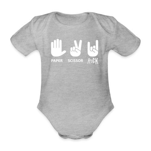 paper scissor rock - Baby bio-rompertje met korte mouwen