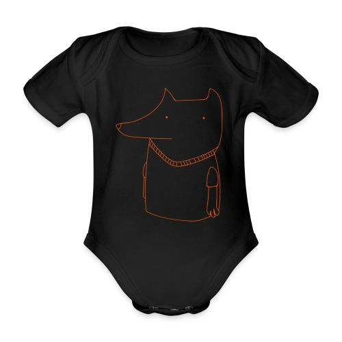 FoxShirt - Organic Short-sleeved Baby Bodysuit