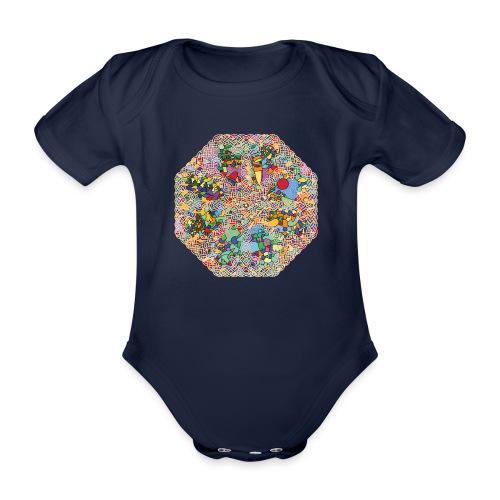 celtic knot - Organic Short-sleeved Baby Bodysuit
