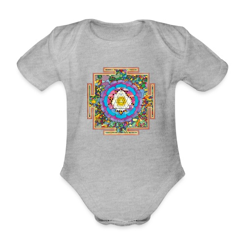 buddhist mandala - Organic Short-sleeved Baby Bodysuit