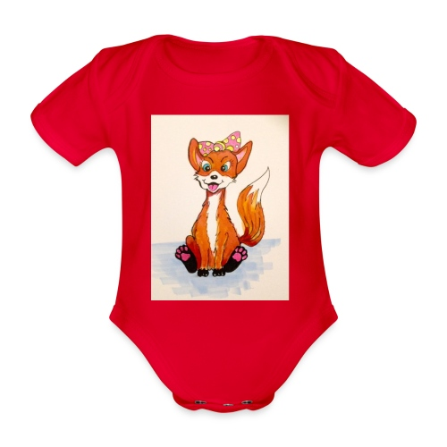 7095A012 2DFD 428F A704 98066BE12671 - Organic Short-sleeved Baby Bodysuit