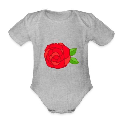 Róża - Ekologiczne body niemowlęce z krótkim rękawem