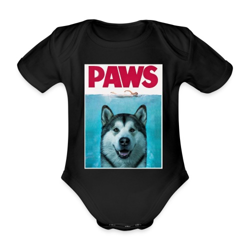 paws 2 - Organic Short-sleeved Baby Bodysuit