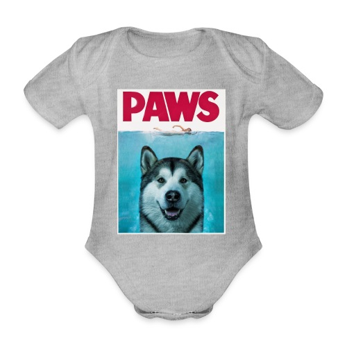 paws 2 - Organic Short-sleeved Baby Bodysuit