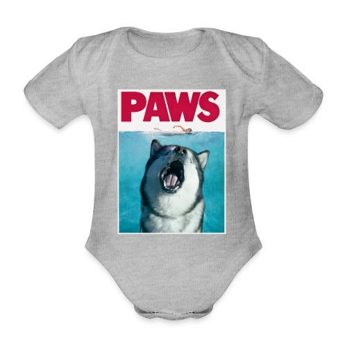 paws Alaskan Malamute - Organic Short-sleeved Baby Bodysuit