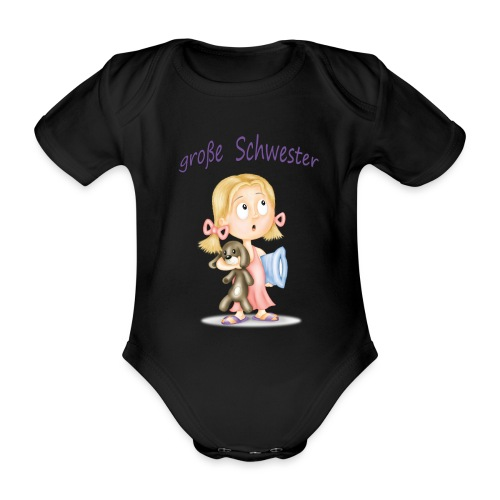 große Schwester - Baby Bio-Kurzarm-Body