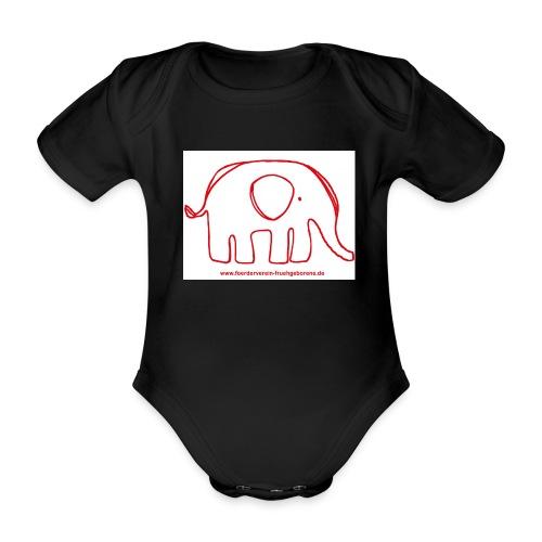 elefant rot - Baby Bio-Kurzarm-Body