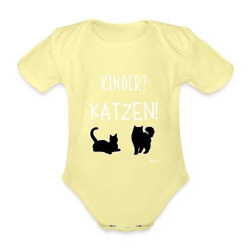 Meine Katzen sind meine Kinder Katzenliebhaber - Baby Bio-Kurzarm-Body