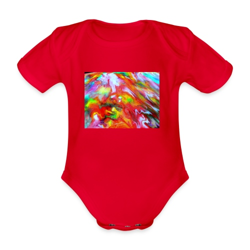 abstract 1 - Organic Short-sleeved Baby Bodysuit