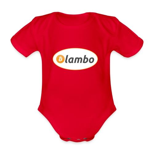 Lambo - option 1 - Organic Short-sleeved Baby Bodysuit