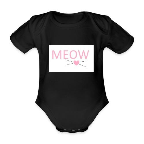 MEOW - Ekologiczne body niemowlęce z krótkim rękawem