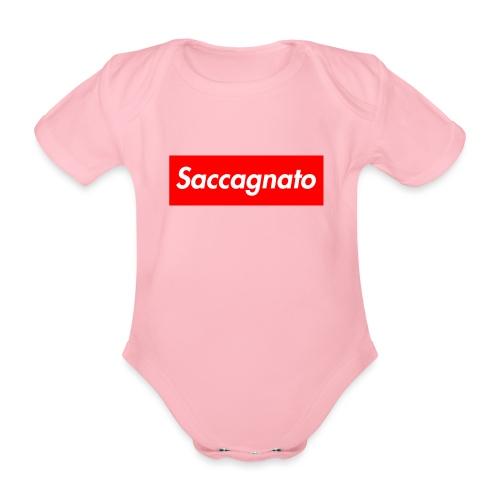 Saccagnato - Body ecologico per neonato a manica corta