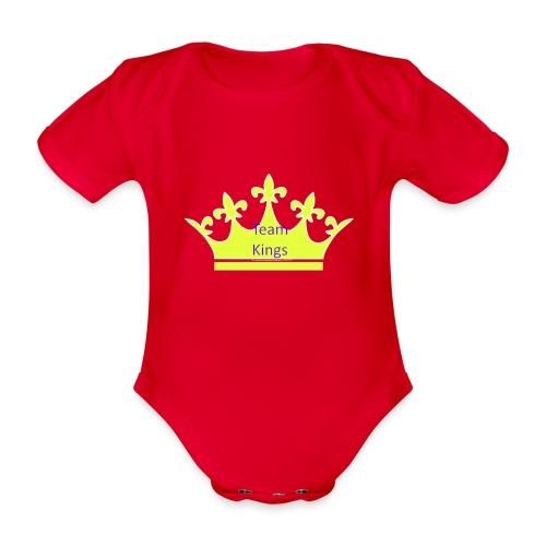Team King Crown - Organic Short-sleeved Baby Bodysuit