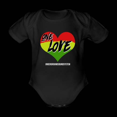 ONE LOVE - HEART - Baby Bio-Kurzarm-Body