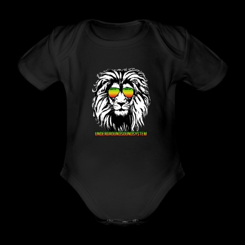 RASTA REGGAE LION - Baby Bio-Kurzarm-Body