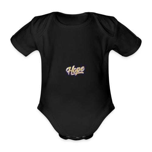 Hope lettering - Body orgánico de manga corta para bebé