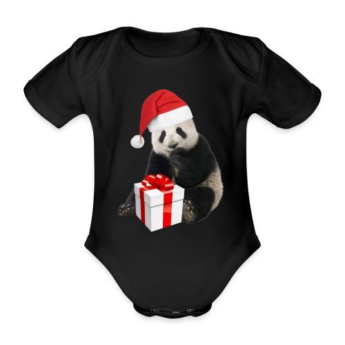 WEIHNACHTS-PANDA - Baby Bio-Kurzarm-Body