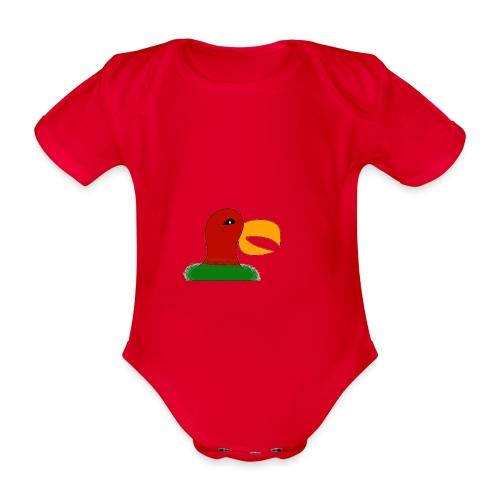 Parrots head - Organic Short-sleeved Baby Bodysuit