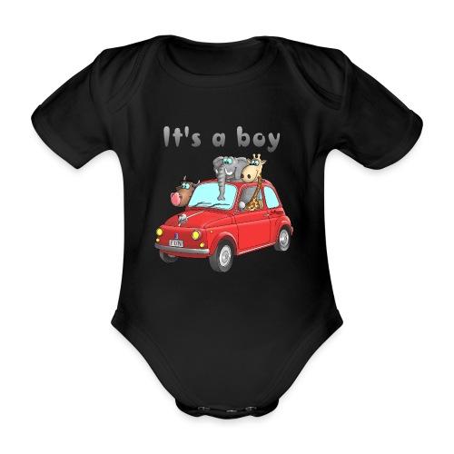 It's a boy - Baby - Cartoon - lustig - Baby Bio-Kurzarm-Body