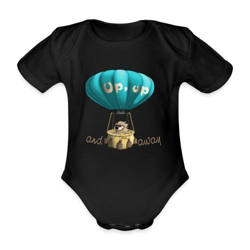 Up up and away - Auf und davon - Baby Bio-Kurzarm-Body