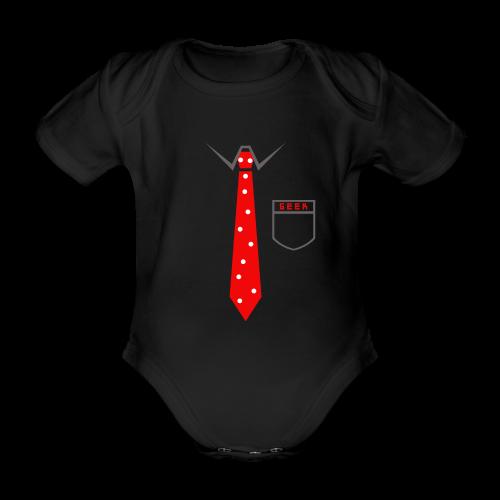 Geek   Schlips Krawatte Wissenschaft Streber - Baby Bio-Kurzarm-Body