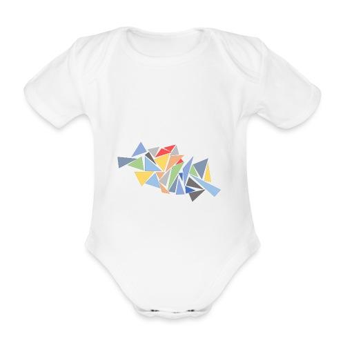 Modern Triangles - Organic Short-sleeved Baby Bodysuit