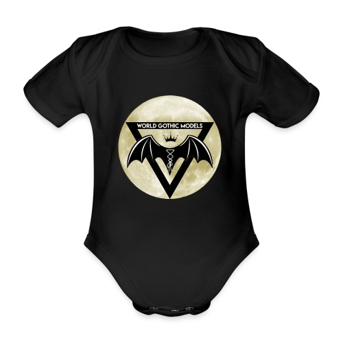 Single WGM Logo Moon Design - Organic Short-sleeved Baby Bodysuit