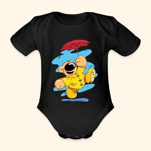 Der Bär tanzt im Regen - Baby Bio-Kurzarm-Body