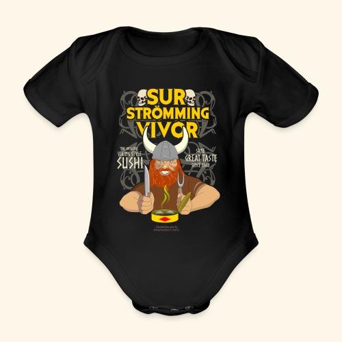 Surströmming Survivor Wikinger - Baby Bio-Kurzarm-Body