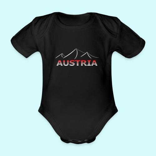 Austria - Österreich Berge T-Shirt - Baby Bio-Kurzarm-Body