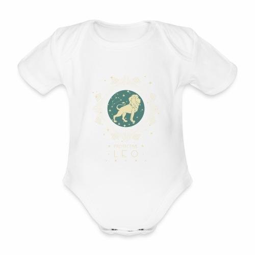 Sternzeichen Löwe Sternbild Geburtstag Juli August - Baby Bio-Kurzarm-Body