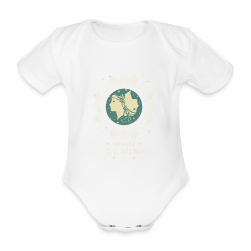 Vielseitiger Zwilling Sternbild Monat Mai Juni - Baby Bio-Kurzarm-Body