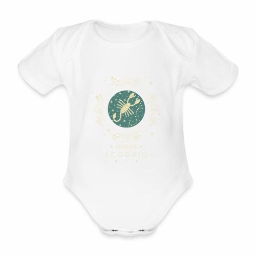 Sternzeichen Furchtloser Skorpion Oktober November - Baby Bio-Kurzarm-Body