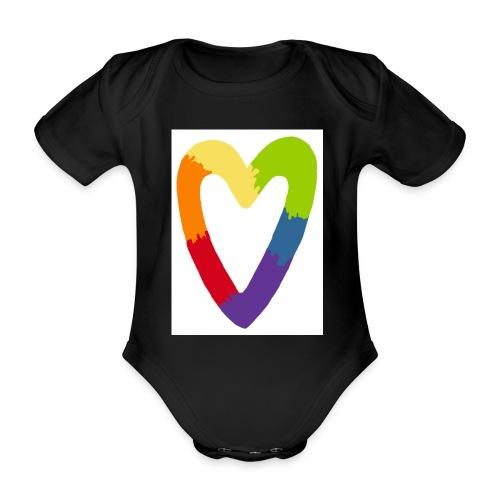 Sydän - Vauvan lyhythihainen luomu-body