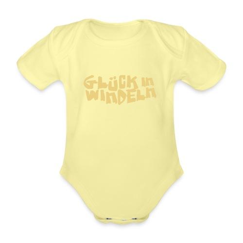 glueckinwindeln - Baby Bio-Kurzarm-Body