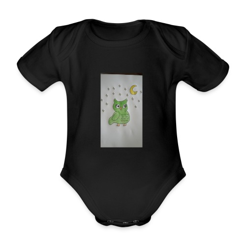Grüne eule - Baby Bio-Kurzarm-Body