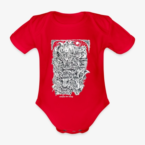 Witches And Devils - Organic Short-sleeved Baby Bodysuit