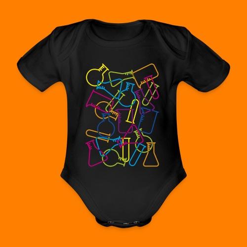 Large Laboratory Glassware - Organic Short-sleeved Baby Bodysuit