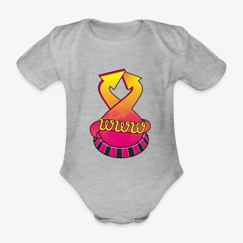 UrlRoulette logo - Organic Short-sleeved Baby Bodysuit